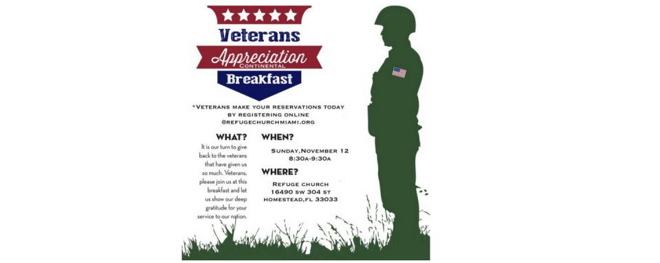 Veterans' Appreciate Breakfast